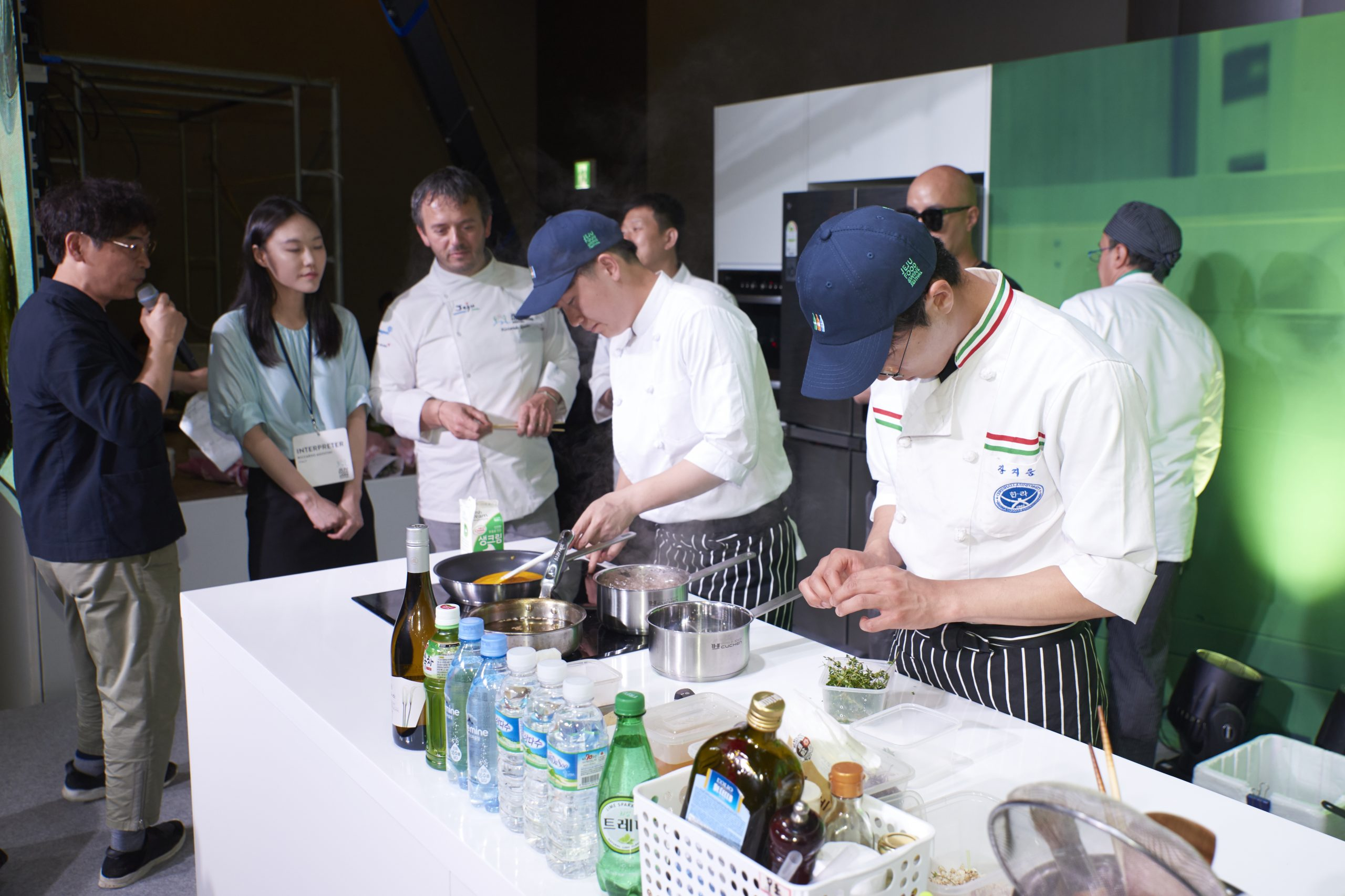 A cooking contest for students of Hotel Cooking Department at Cheju Halla University
