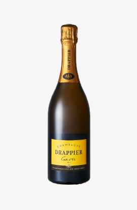 Official delivery to Elysee Palace, France Classical Golden Card Champagne with champagne Drapier. Asiana Business Class offer item.